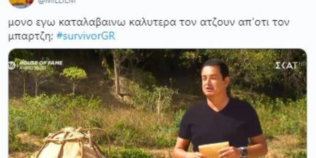 Survivor 4 - Twitter: «Η αμήχανη στιγμή που ο Ατζούν μιλάει καλύτερα ελληνικά από τον Μπάρτζη»