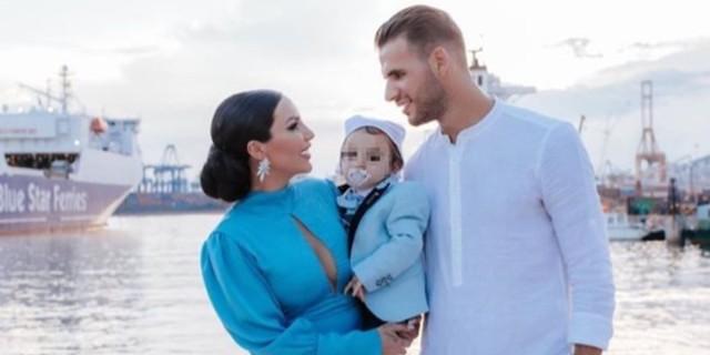 Ζέτα Θεοδωροπούλου – Παναγιώτης Ταχτσίδης: Εντυπωσιακή η βάφτιση του γιου τους