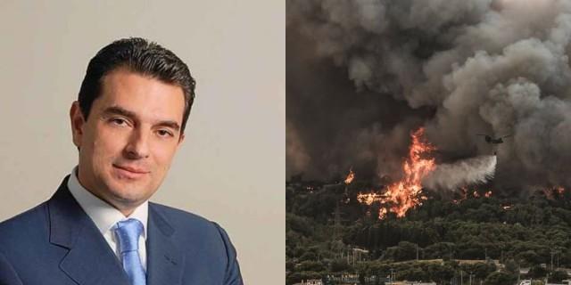 Φωτιά στην Βαρυμπόμπη: «Τυλίχθηκε» από τις φλόγες το σπίτι του Κώστα Σκρέκα