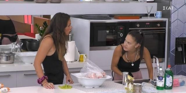 Big Brother 2: Ευδοκία και Σαμάνθα τσακώνονται για το... ποια έχει κάνει περισσότερες λάντζες