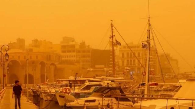 Κρήτη: Πνίγεται από αφρικανική σκόνη αυτή τη στιγμή!