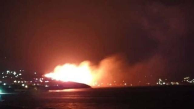 Έκτακτο! Ξέσπασε μεγάλη φωτιά στην Εύβοια! Εικόνες σοκ!