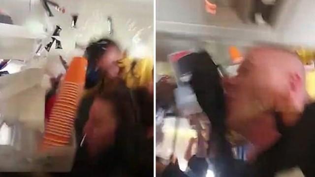 Βίντεο ανατριχίλα: Φοβερές αναταράξεις μέσα σε αεροπλάνο που εκσφενδονίζουν την αεροσυνοδό!