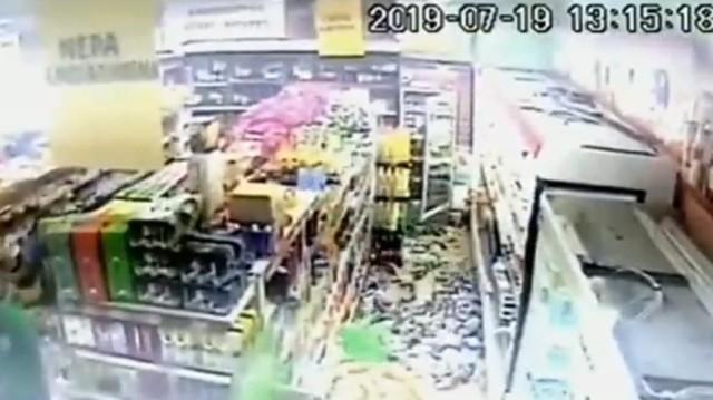 Βίντεο-σοκ από τη στιγμή του σεισμού σε σούπερ μάρκετ στη Χασιά!