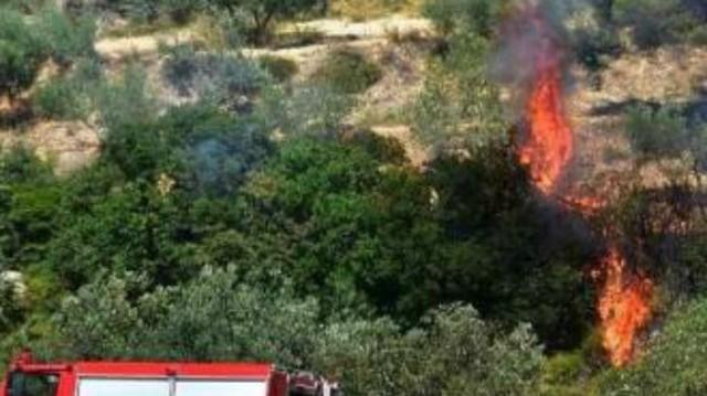 Επικίνδυνη πυρκαγιά στην Κρήτη! Πνέουν ισχυροί άνεμοι!