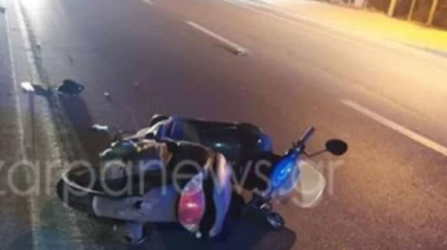Τροχαίο - σοκ στα Χανιά! Σφοδρή σύγκρουση με μοτοσικλέτα! Ένας νεκρός και ένας τραυματίας!