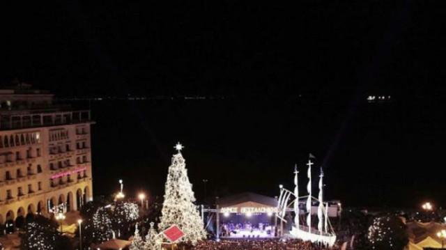 Θεσσαλονίκη: Έβαλε τα γιορτινά της και έλαμψε ολόκληρη! Έφτασαν επιτέλους τα Χριστούγεννα!