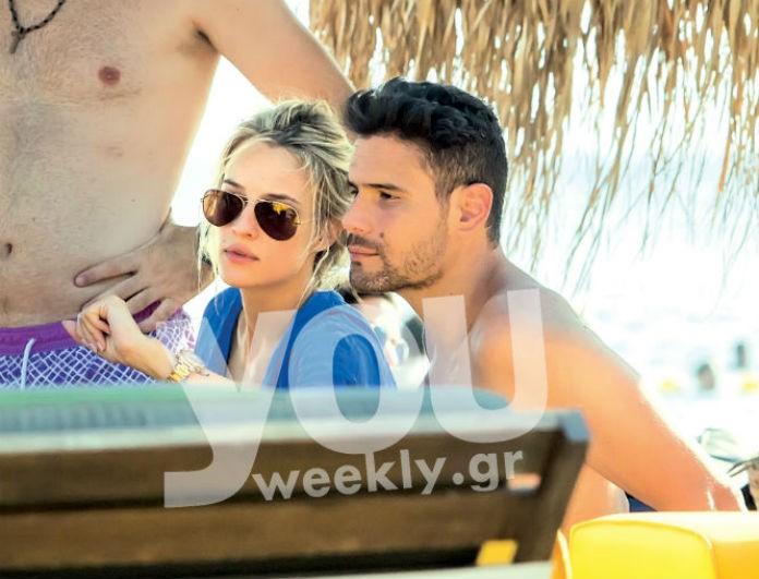 Δημήτρης Ουγγαρέζος - Ιλένια Ουίλιαμς: Τρελά ερωτευμένοι στην παραλία - Δεν ξεκόλλησε ο ένας από τον άλλον!