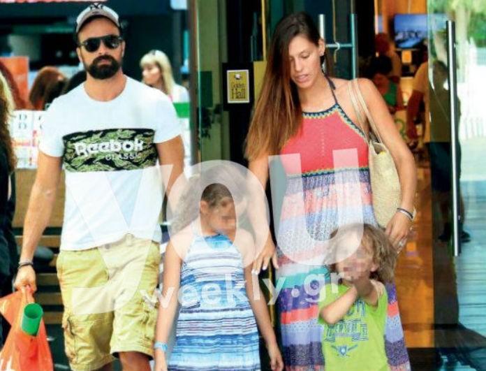 Γιώργος Λιανός: Σχολικές αγορές με τα παιδιά και τη σύζυγό του Ανθή μετά  από καιρό (Photos)