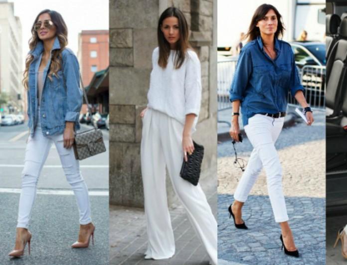 4c8bcce3dfb0 10 τρόποι να φορέσεις το λευκό σου παντελόνι φθινόπωρο και χειμώνα -  FASHION NEWS - Youweekly
