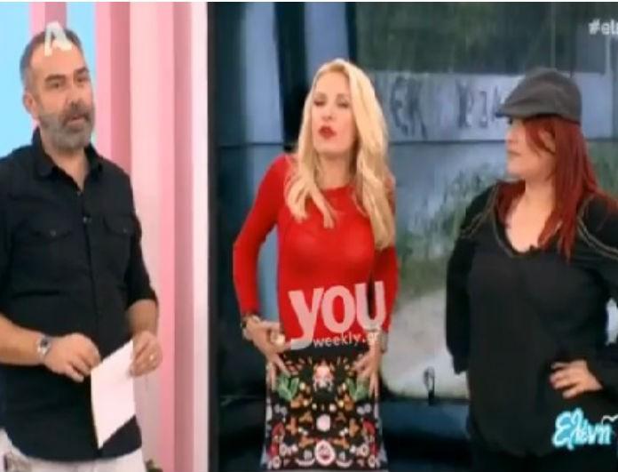 Εκτός ορίων η Μενεγάκη! Χαϊδευόταν και σήκωνε τη φούστα της on air (Bίντεο)