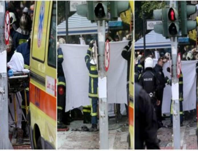 Σκληρές εικόνες: Η στιγμή που οι πυροσβέστες βγάζουν από το κατάστημα την νεκρή της έκρηξης! (photos)