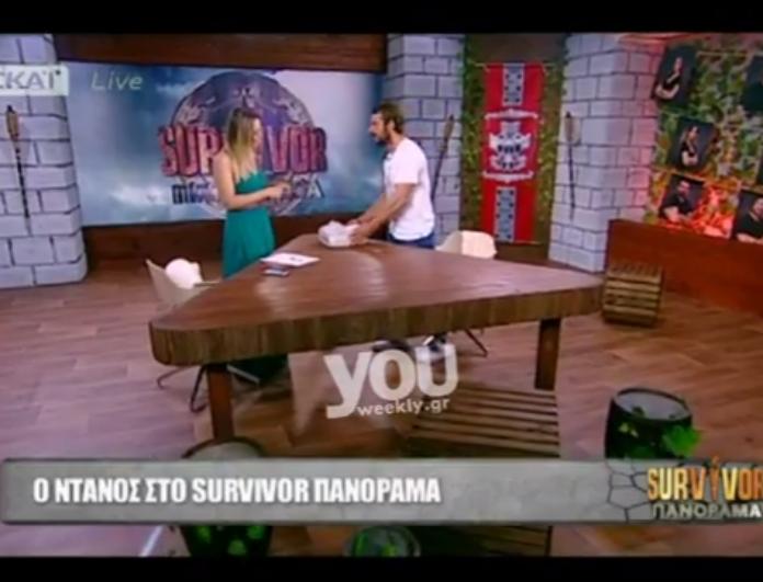 Survivor Panorama: Δεν φαντάζεστε τι δώρο πήγε ο Γιώργος Αγγελόπουλος στην Ελεονώρα Μελέτη! Ξετρελάθηκε η παρουσιάστρια... (Βίντεο)