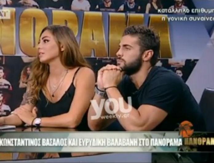 Πανόραμα: Κωνσταντίνος Βασάλος-Ευρυδίκη Βαλαβάνη απαντούν πρώτη φορά στις φήμες για την σχέση τους! Είναι όντως ζευγάρι; (Βίντεο)
