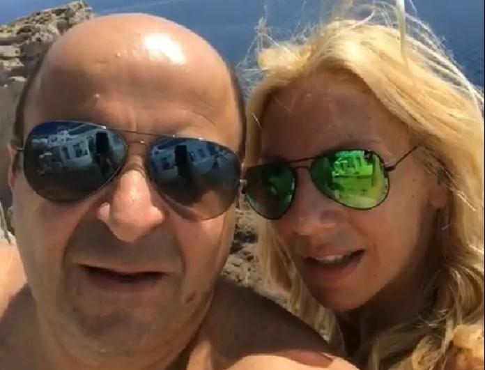 Πιο ερωτευμένοι από ποτέ ο Μάρκος Σεφερλής και Έλενα Τσαβαλιά! Το πιο τρυφερό βίντεο από τις μαγευτικές τους διακοπές!