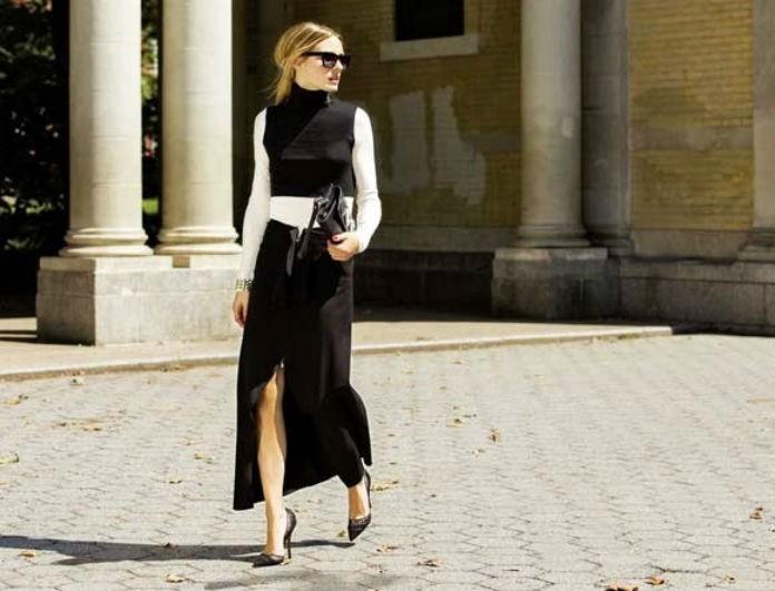 Δείτε τη μαύρη φούστα που πάει με όλα και φοριέται από το πρωί ως το βράδυ