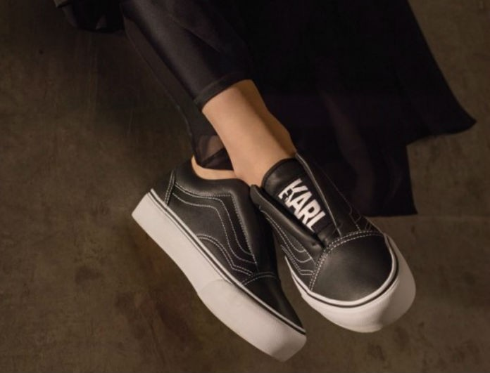 O Karl Lagerferld συνεργάστηκε με τη Vans και το αποτέλεσμα είναι luxurius street fashion