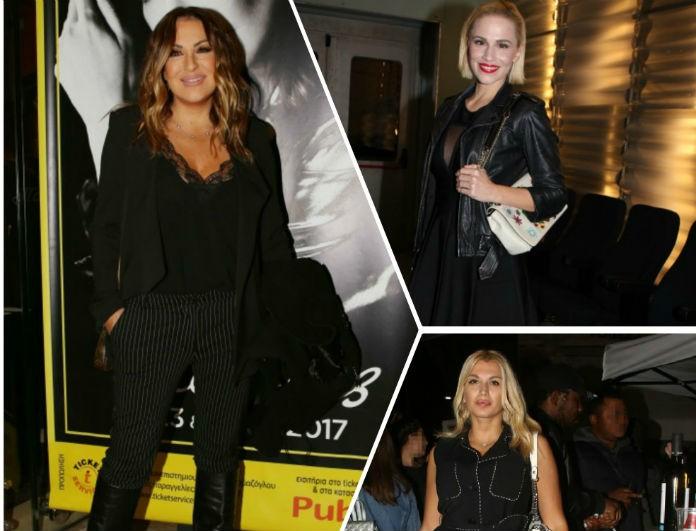 Total black look: Φόρεσέ το σε μια βραδινή έξοδο όπως οι κυρίες της ελληνικής showbiz