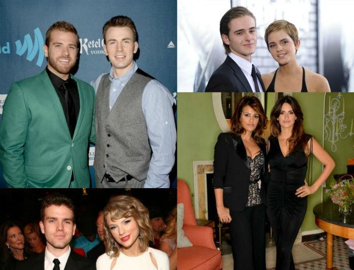 10 + 1 εντυπωσιακοί celebrities που δεν είχαμε ιδέα πως έχουν τόσο ...όμορφα αδέρφια!