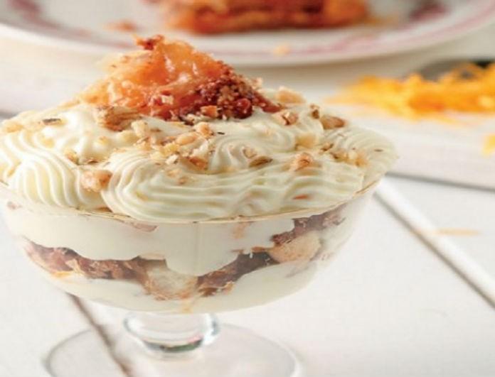 Ένα υπέροχο γλυκό που πρέπει να δοκιμάσετε! Cheesecake μπακλαβά στο ποτήρι