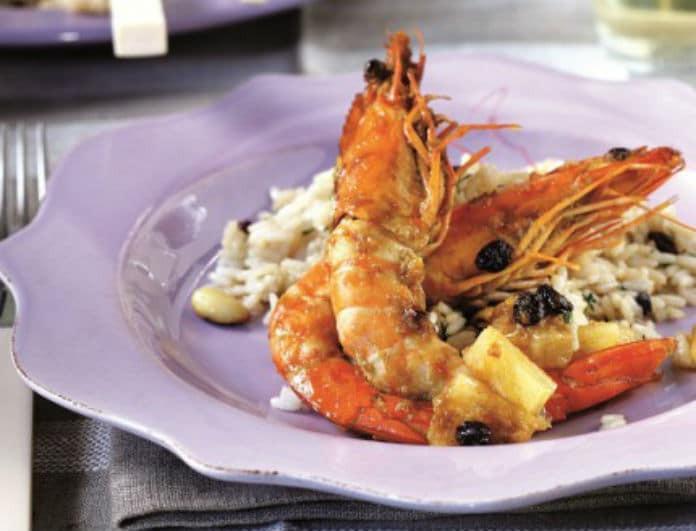 Νηστίσιμο & Νόστιμο: Ινδικές γαρίδες με κάρι, ανανά και σταφίδες!