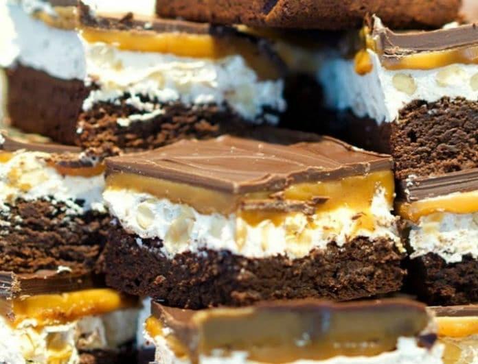 Snickers brownies για διπλή απόλαυση!