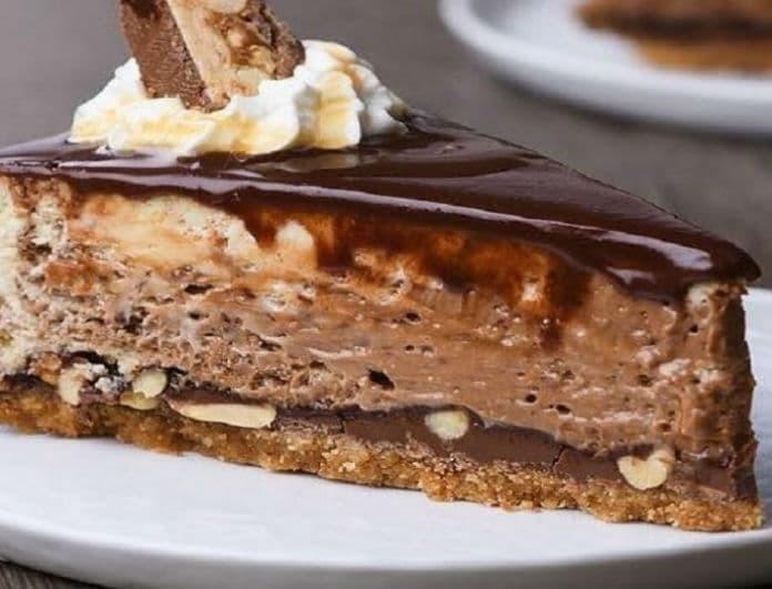 Το πιο νόστιμο και γευστικό cheesecake με snickers!