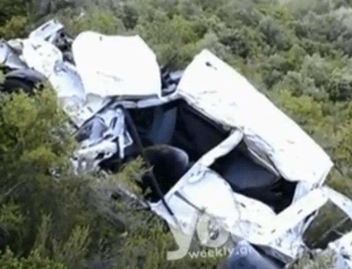 Σοκ στα Τρίκαλα: Αυτοκίνητο με πενταμελή οικογένεια έπεσε σε χαράδρα! (Βίντεο)