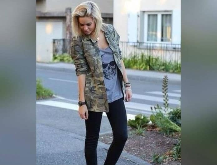 Street style: Δώσε μία σ*ξι νότα στο millitaire jacket σου! Tips για να αναδείξεις την θηλυκότητα σου...