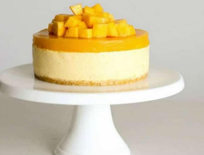 Εύκολο και γρήγορο - σούπερ δροσερό cheesecake με mango! (video)