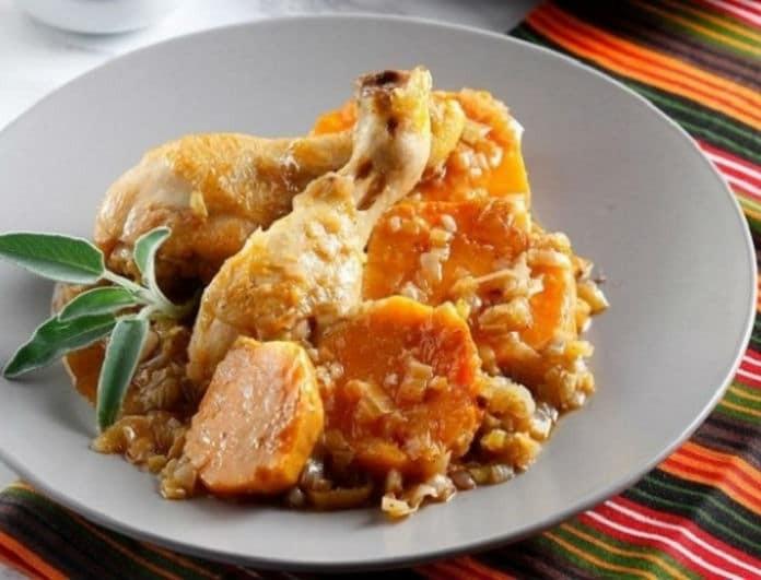Η συνταγή της ημέρας: Κοτόπουλο κατσαρόλας με φέτα και λεμόνι!