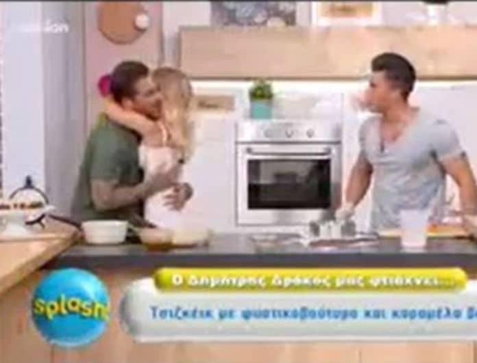 Μπούκαρε στο πλατό του Splash η Αθηνά Χρυσαντίδου! Η έκπληξη στον Δώρο Παναγίδη! (Βίντεο)