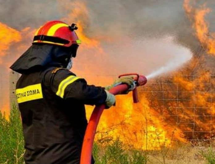 Φωτιά στην Κρήτη! Δείτε την ανακοίνωση της Πυροσβεστικής!