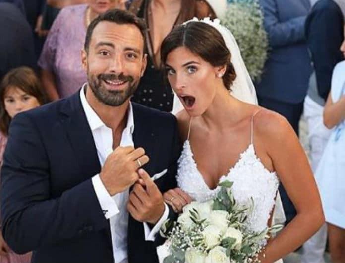 Η πιο κακοντυμένη με διαφορά στο γάμο Σάκη Τανιμανίδη και Χριστίνας Μπόμπα η....