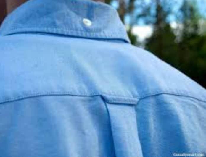 Αυτός είναι ο σκοπός της θηλιάς στο πίσω μέρος ενός πουκαμίσου!