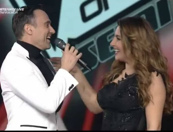 The Voice: Την έκανε να δακρύσει! Η απίστευτη έκπληξη του Καπουτζίδη στην Έλενα Παπαρίζου! (βίντεο)