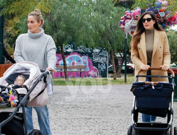 Ελεονώρα Μελέτη - Φλορίντα Πετρουτσέλη: Happy moms! Στην παιδική χαρά με τα παιδιά τους!