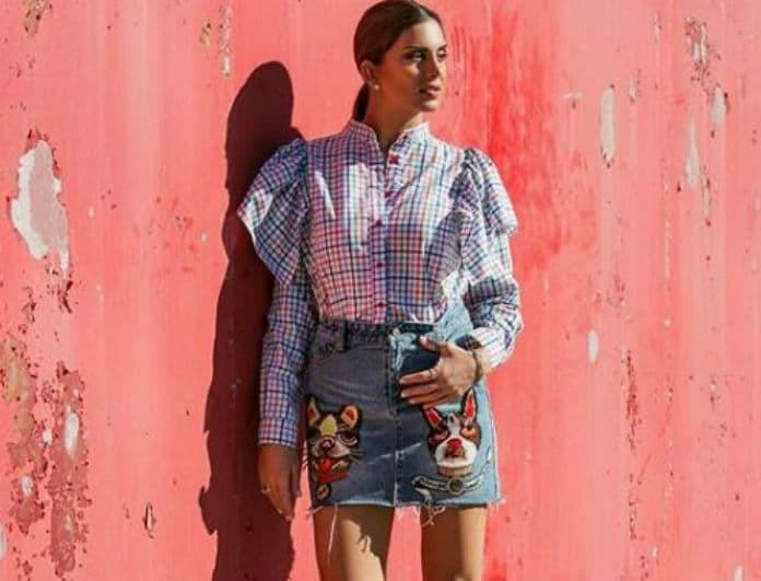 Σταματίνα Τσιμτσιλή: Η τζιν φούστα της δεν μοιάζει με καμία όσες έχουμε δει και την θέλουμε τώρα!