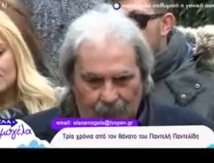Ξέσπασε ο πατέρας του Παντελίδη στο μνημόσυνο! «Πέρασαν τρία χρόνια με κλάματα…» (Βίντεο)