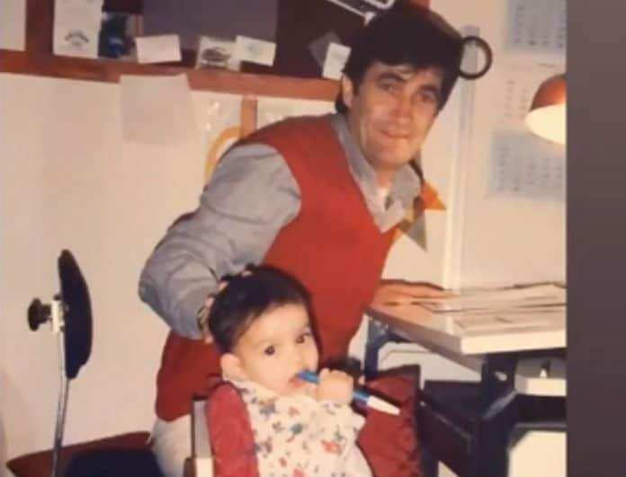 Αναγνωρίζετε το κοριτσάκι της φωτογραφίας; Είναι κούκλα Ελληνίδα ηθοποιός με τον μπαμπά της!