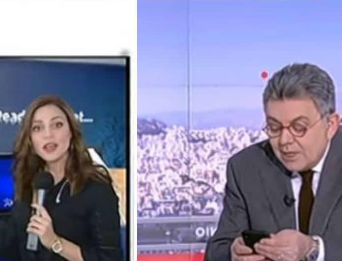 Γιώργος Παπαδάκης: To μήνυμα που έστειλε, ενώ η Μπάγια Αντωνοπούλου ήταν στον αέρα της εκπομπής!
