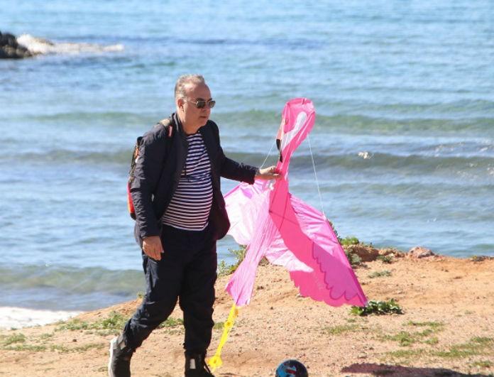 Φώτης Σεργουλόπουλος: Πέταξε χαρταετό με τον γιο του! Αποκλειστικά στιγμιότυπα