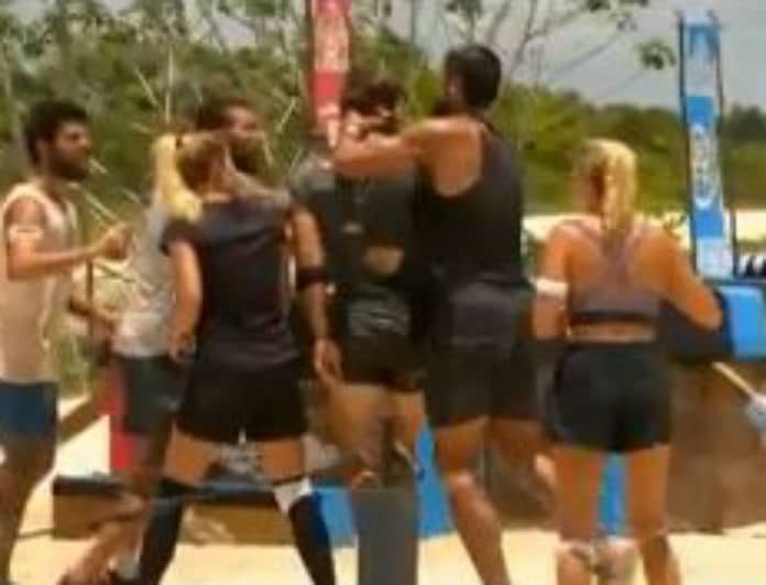 Survivor Ελλάδα Τουρκία: Ο Χικμέτ έπιασε από το λαιμό τον Γιουσούφ! Τους έδιωξε ο Ατζούν! (Βίντεο)