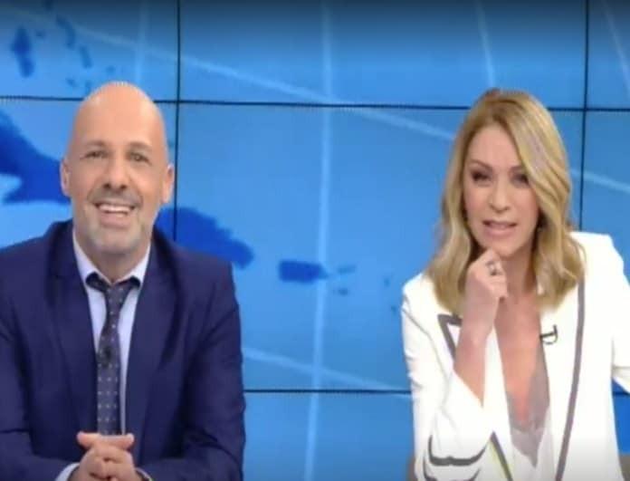 Νίκος Μουτσινάς - Έλλη Στάη: Μαζί στο δελτίο ειδήσεων! (βίντεο)