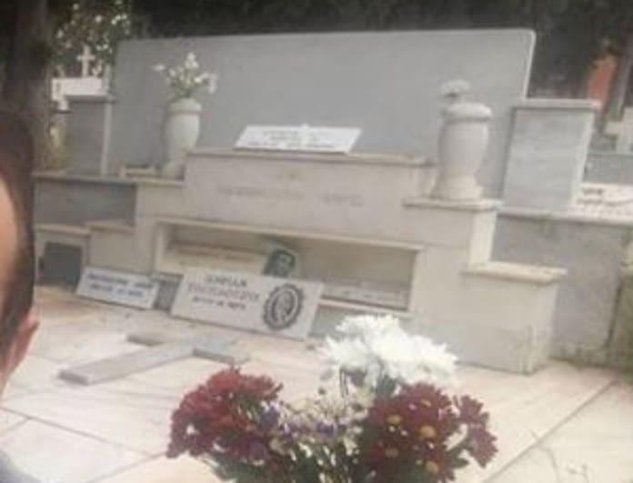 Πασίγνωστος Έλληνας ηθοποιός έβγαλε selfie στον οικογενειακό του τάφο!