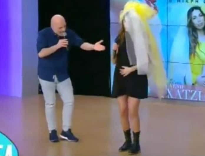 Νίκος Μουτσινάς: Χαμός στο πλατό! Έκανε ντου η Χατζίδου και....