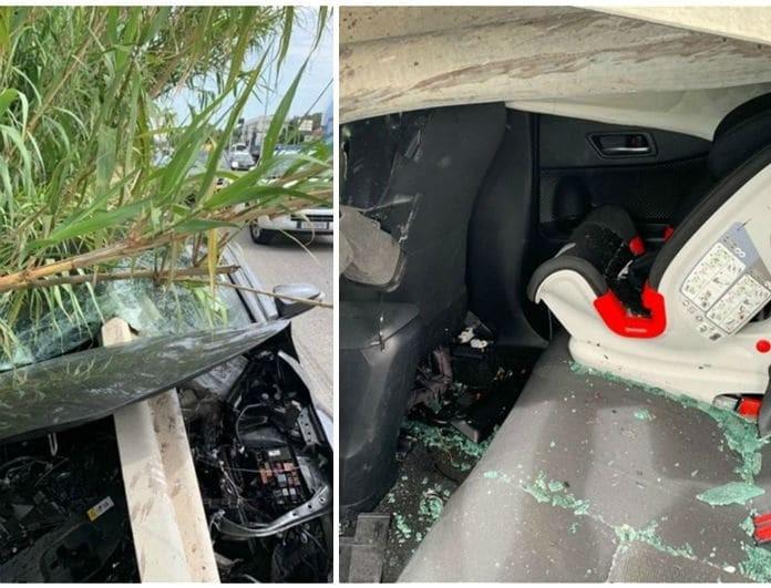 Τροχαίο σοκ στην Ρόδο: Μπάρα έκοψε στη μέση αυτοκίνητο! Σκληρές εικόνες!