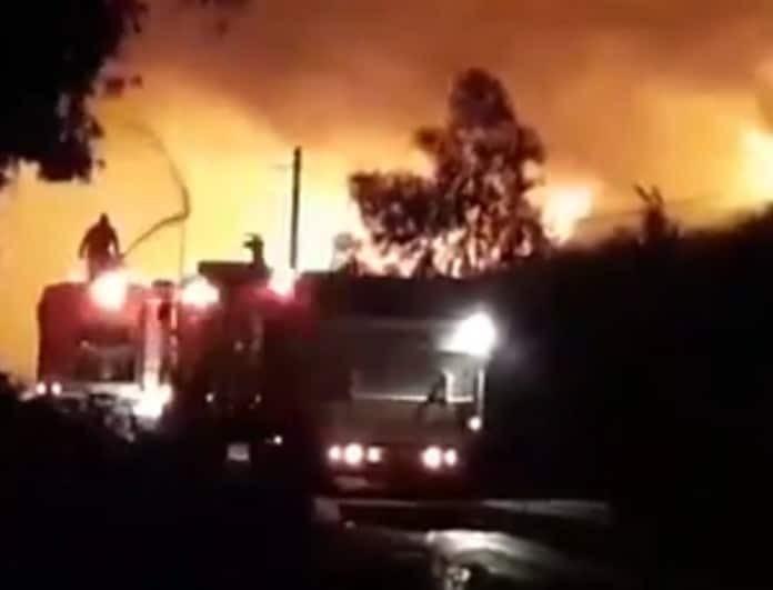 Bίντεο-σοκ από την πύρινη λαίλαπα στο Μαρκόπουλο! Μάχη των πυροσβεστών στην κόλαση της φωτιάς!