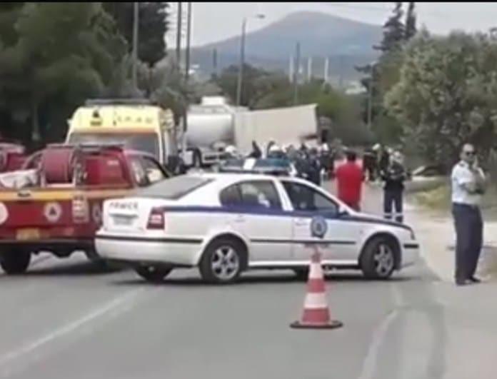 Εκκενώνεται η περιοχή στη Κορωπίου-Μαρκοπούλου λόγω του φονικού τροχαίου!