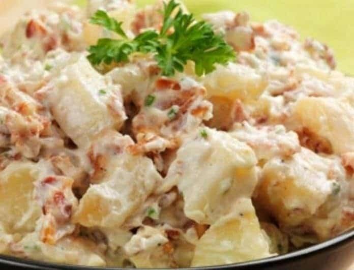 Δροσερή πατατοσαλάτα με κοτόπουλο! Η απόλυτη συνταγή για τώρα που ανοίγει ο καιρός!
